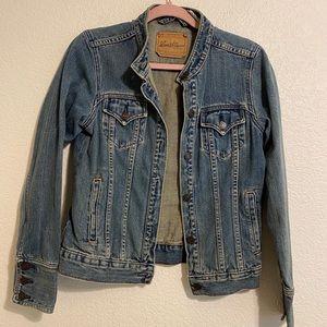 Levi's Women Jean Jacket No Collar Med Trucker